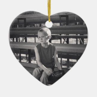foto (1).JPG Adorno Navideño De Cerámica En Forma De Corazón