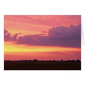 Foto 2004 de la puesta del sol por la marca Edward Tarjeta De Felicitación