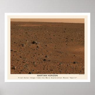 Foto 2004 del alcohol de Marte Rover primera Impresiones