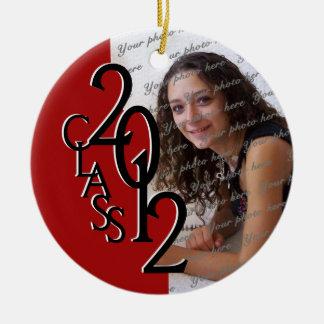 Foto 2012 de la graduación de la clase adorno navideño redondo de cerámica