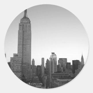 Foto 2 del Empire State Building Pegatina Redonda