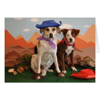 Foto, 2 perros occidentales tarjeta de felicitación