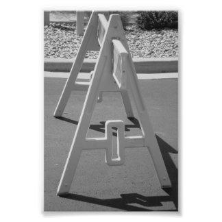 Foto A5 4x6 blanco y negro de la letra del alfabet
