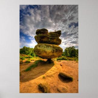 Foto a todo color de HDR de la roca del ídolo Poster