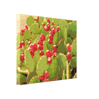 Foto abstracta alterada fruta del cactus del higo lona estirada galerias
