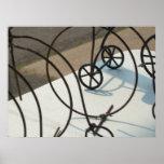 Foto abstracta de bicicletas poster