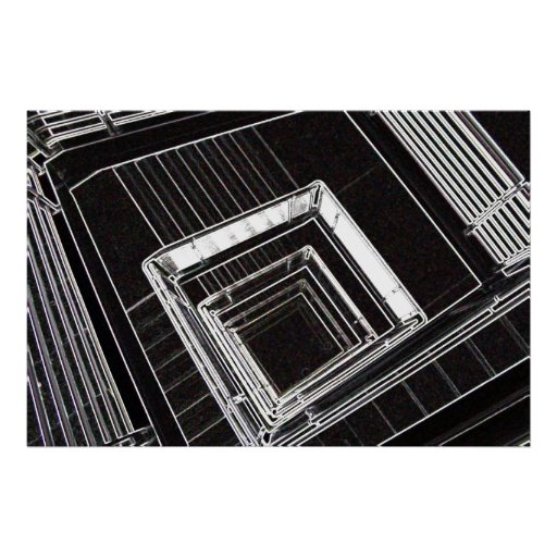 foto abstracta de la escalera impresiones