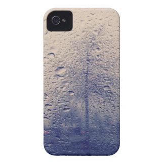 Foto abstracta del árbol de la ventana lluviosa iPhone 4 fundas