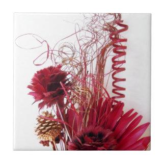 Foto abstracta del arreglo floral azulejo cuadrado pequeño