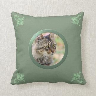 Foto adaptable de la memoria del gato/del mascota cojín