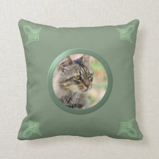 Foto adaptable de la memoria del gato/del mascota  cojin