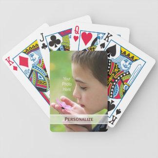 Foto adaptable de moda con nombre personalizado barajas de cartas