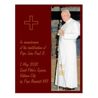 Foto adaptable de papa John Paul 2 Postales