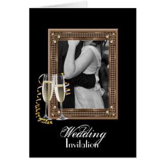 Foto adaptable elegante WeddingFavor Tarjeta De Felicitación