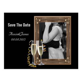 Foto adaptable elegante WeddingFavor Postal