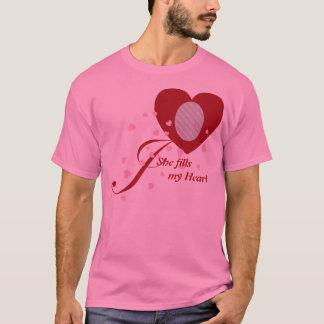Foto adaptable en una camiseta del corazón