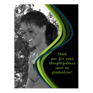 Foto adaptable - la graduación le agradece cardar postal