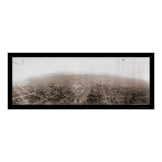 Foto aérea 1902 de Los Ángeles Póster
