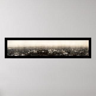 Foto aérea 1912 del Washington DC Póster
