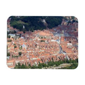 Foto aérea de Brasov Imán Rectangular