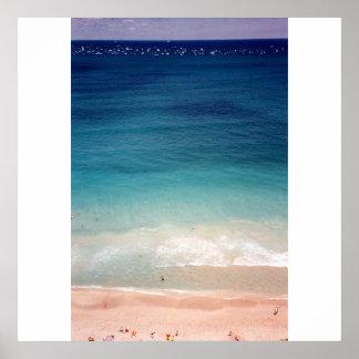 Foto aérea de la playa del océano de la Florida de Póster
