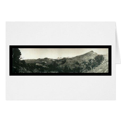 Foto alpina 1906 de la cañada del lago Susie Felicitaciones
