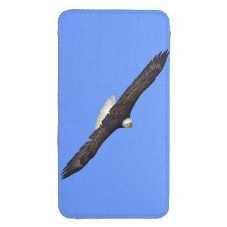 Foto altísima de la fauna de Eagle calvo Birdlover Funda Acolchada Para Galaxy S4