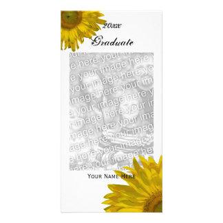 Foto amarilla de la invitación de la graduación tarjetas fotograficas