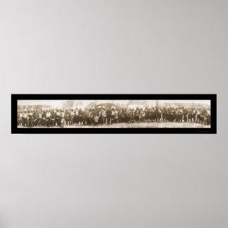 Foto americana 1908 del grupo de los indios impresiones