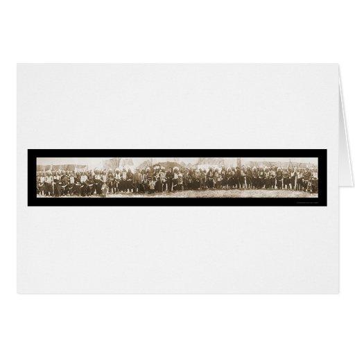 Foto americana 1908 del grupo de los indios tarjeta de felicitación