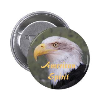 Foto americana de Eagle calvo del alcohol Pin Redondo De 2 Pulgadas