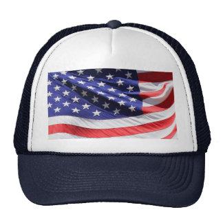 Foto americana de la bandera de los E.E.U.U. de la Gorra