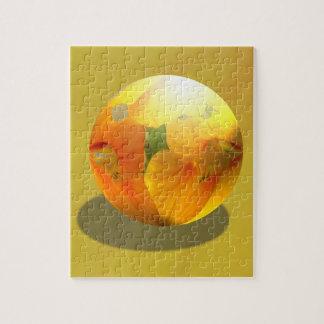 Foto anaranjada de la flor de la amapola del pisap rompecabezas
