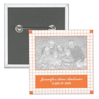 Foto anaranjada de la rejilla pin cuadrado