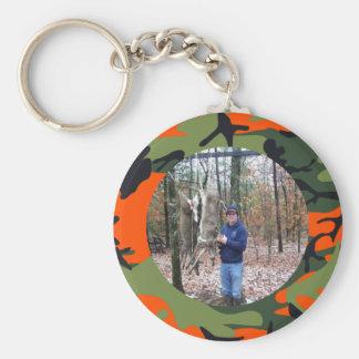 Foto anaranjada del anillo de Camo del cazador per Llavero Redondo Tipo Pin