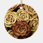 Foto antigua de los rosas ornamento para arbol de navidad