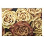 Foto antigua de los rosas mantel individual