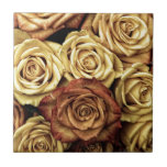 Foto antigua de los rosas teja  ceramica