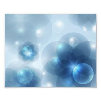 Foto ardiente de las burbujas cojinete