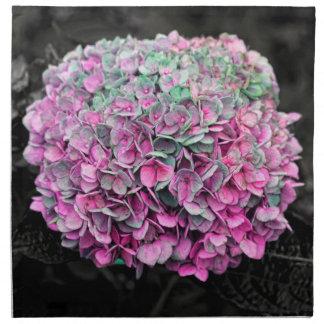 Foto ascendente cercana de la flor servilleta de papel
