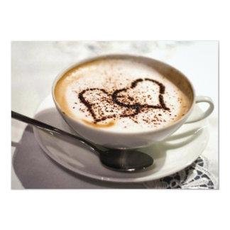 """Foto asombrosa del café invitación 5"""" x 7"""""""