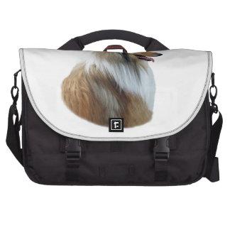 Foto áspera del retrato del perro del collie bolsas de portatil