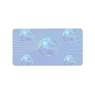 Foto azul apretada de la formación etiqueta de dirección