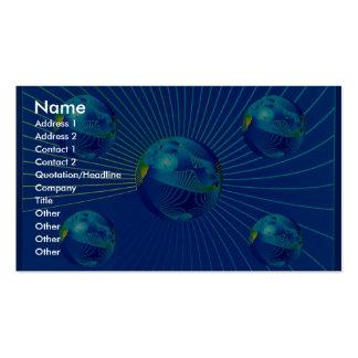 Foto azul apretada de la formación tarjetas de visita