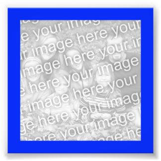 Foto azul brillante del marco