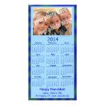 Foto azul de Jánuca de la plantilla de la tarjeta  Tarjeta Fotografica Personalizada