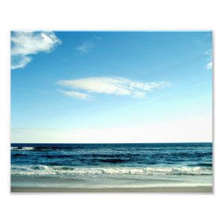 Foto azul de la playa del océano fotografía