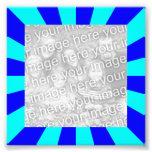 Foto azul del marco de Starburst de la aguamarina