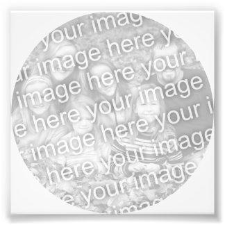 Foto blanca del marco del círculo cojinete