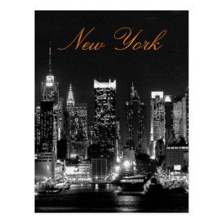 Foto blanca negra del viaje de New York City del Postal